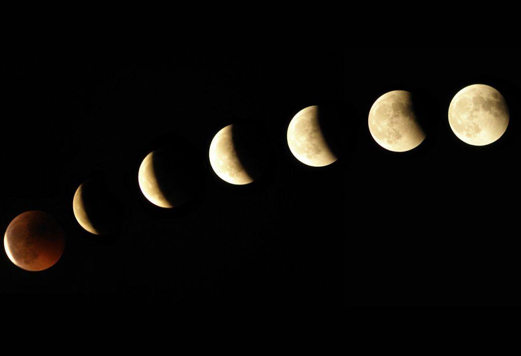 soñar con la luna anaranjada