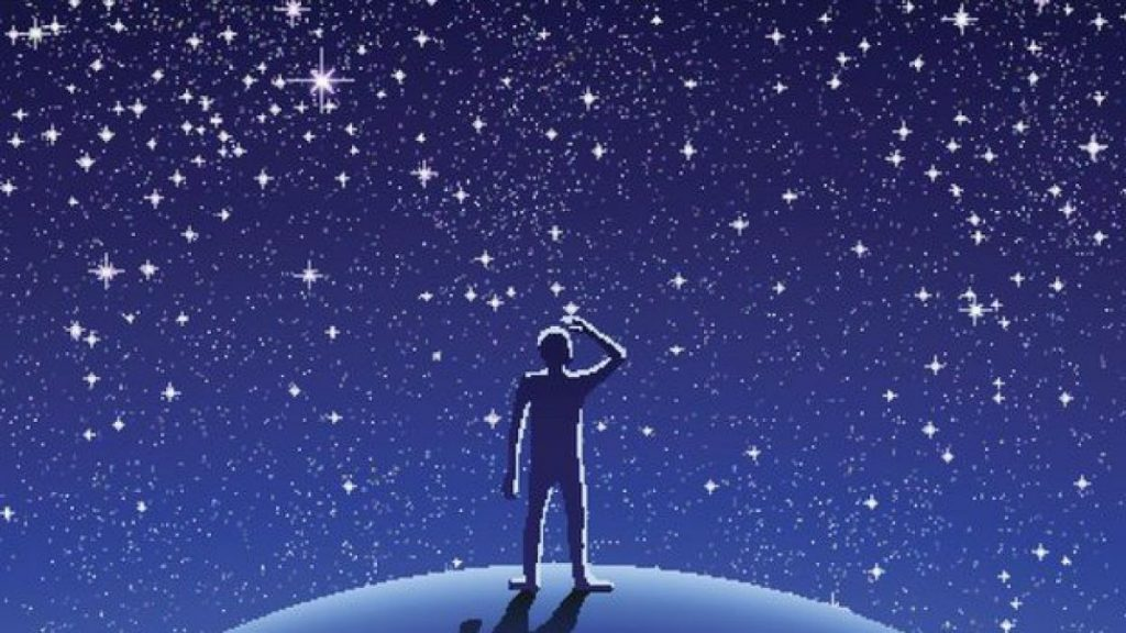 soñar con estrellas que caen como lluvia