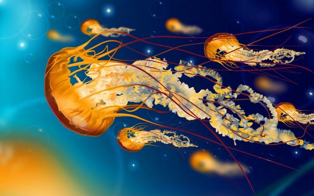 soñar con medusas en el cielo